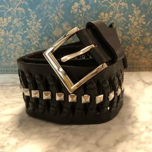 Zara Leather Studded Belt
